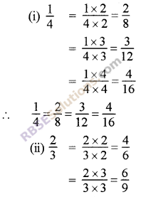 RBSE Solutions for Class 5 Maths Chapter 7 Equivalent Fractions Ex 7.1 image 1