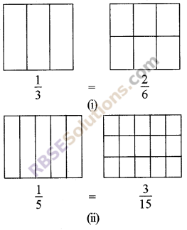 RBSE Solutions for Class 5 Maths Chapter 7 Equivalent Fractions Ex 7.1 image 3