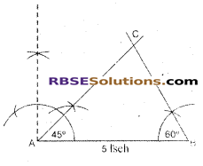 RBSE Solutions for Class 7 Maths Chapter 10 त्रिभुजों की रचना Ex 10.1