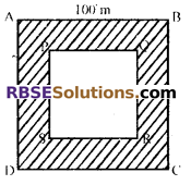 RBSE Solutions for Class 7 Maths Chapter 16 परिमाप और क्षेत्रफल Additional Questions