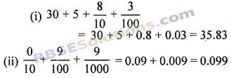 RBSE Solutions for Class 7 Maths Chapter 2 भिन्न एवं दशमलव संख्याएँ Additional Questions