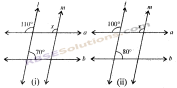 RBSE Solutions for Class 7 Maths Chapter 7 कोण एवं रेखाएँ Additional Questions