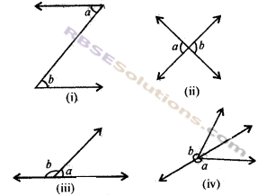 RBSE Solutions for Class 7 Maths Chapter 7 कोण एवं रेखाएँ Ex 7.1
