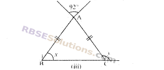 RBSE Solutions for Class 7 Maths Chapter 8 त्रिभुज और उसके गुण Additional Questions