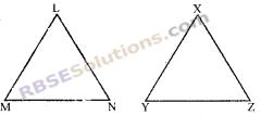 RBSE Solutions for Class 7 Maths Chapter 9 त्रिभुजों की सर्वांगसमता Ex 9.1