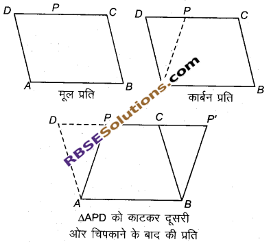 RBSE Solutions for Class 9 Maths Chapter 10 त्रिभुजों तथा चतुर्भुजों के क्षेत्रफलEx 10.1