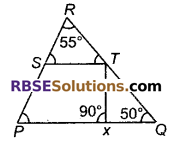 RBSE Solutions for Class 9 Maths Chapter 6 सरल रेखीय आकृतियाँ Additional Questions