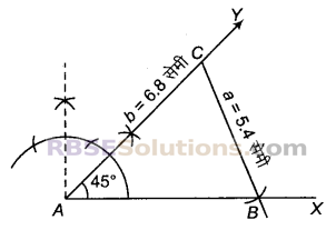 RBSE Solutions for Class 9 Maths Chapter 8 त्रिभुजों की रचनाएँEx 8.5