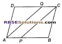 RBSE Solutions for Class 9 Maths Chapter 9 चतुर्भुज Ex 9.1