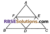 RBSE Solutions for Class 9 Maths Chapter 9 चतुर्भुज Ex 9.2