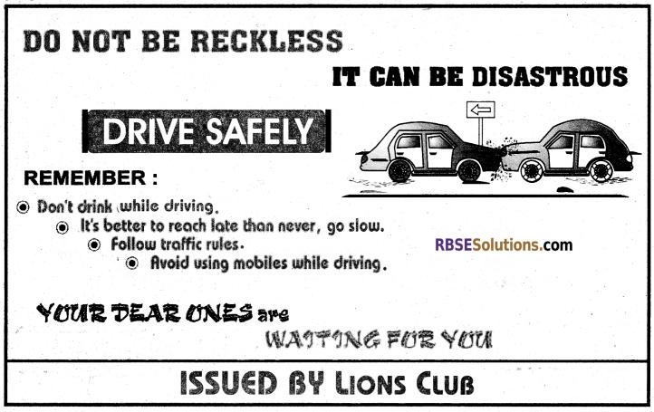 RBSE Class 12 English Poster Writing img 8