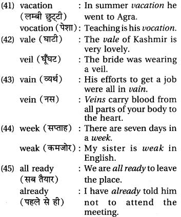 RBSE Class 6 English Vocabulary Homophones image 8