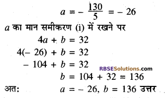 RBSE Solutions for Class 10 Maths Chapter 3 बहुपद Additional Questions 52
