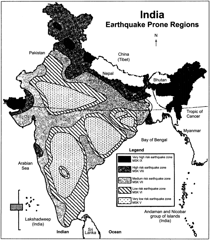 RBSE Solutions for Class 11 Indian Geography Chapter 10 Natural Disasters and Management, Earthquakes & Landslides img-2
