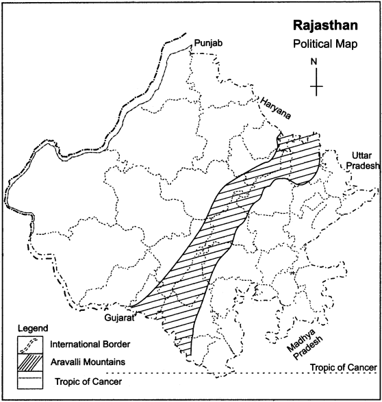 RBSE Solutions for Class 11 Indian Geography Chapter 12 Rajasthan Introduction Physical Features and Drainage System img-3