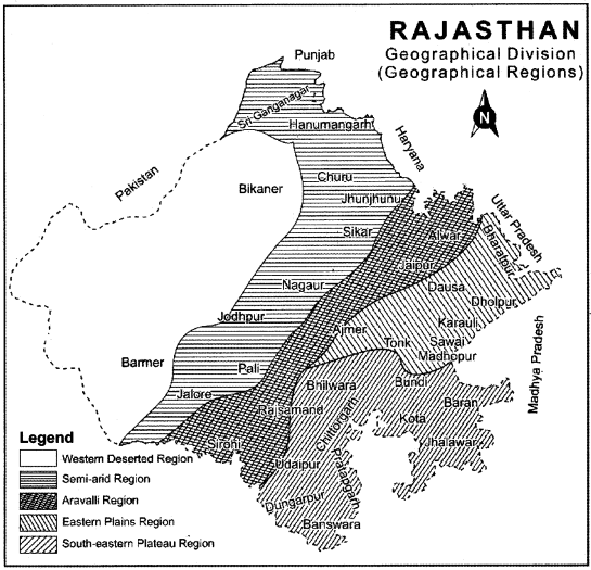RBSE Solutions for Class 11 Indian Geography Chapter 12 Rajasthan Introduction Physical Features and Drainage System img-4