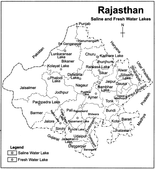 RBSE Solutions for Class 11 Indian Geography Chapter 12 Rajasthan Introduction Physical Features and Drainage System img-7