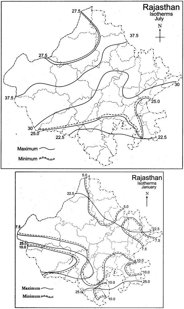 RBSE Solutions for Class 11 Indian Geography Chapter 13 Rajasthan Climate Vegetation and Soil img-5