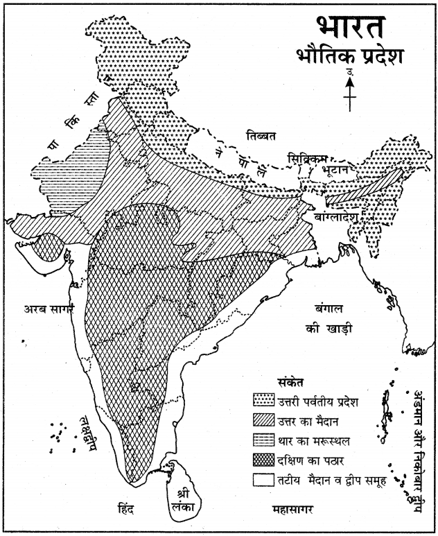 RBSE Solutions for Class 11 Pratical Geography मानचित्रावली 11