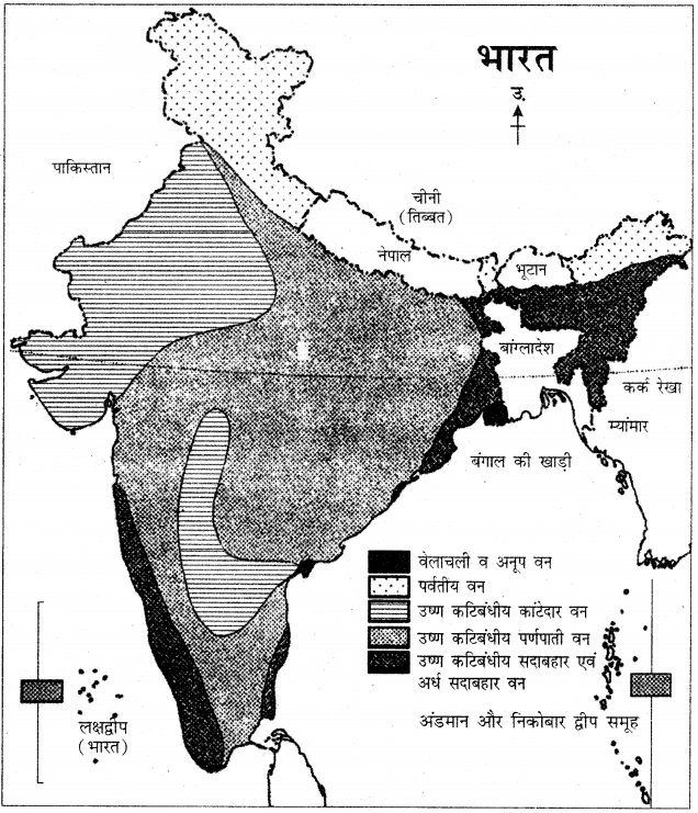 RBSE Solutions for Class 11 Pratical Geography मानचित्रावली 18