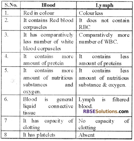 RBSE Solutions for Class 12 Biology Chapter 24 Man-Blood Vascular, System 11