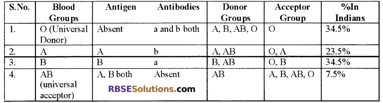 RBSE Solutions for Class 12 Biology Chapter 24 Man-Blood Vascular, System 3