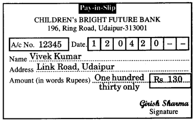 RBSE Solutions for Class 6 English Chapter 14 Opening an Account image 3