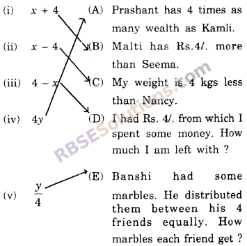 RBSE Solutions for Class 6 Maths Chapter 12 Algebra In Text Exercise image 1