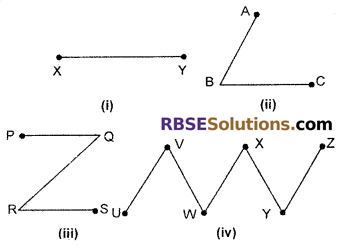 RBSE Solutions for Class 6 Maths Chapter 8 Basic Geometrical Concepts and Shapes Ex 8.1 image 1