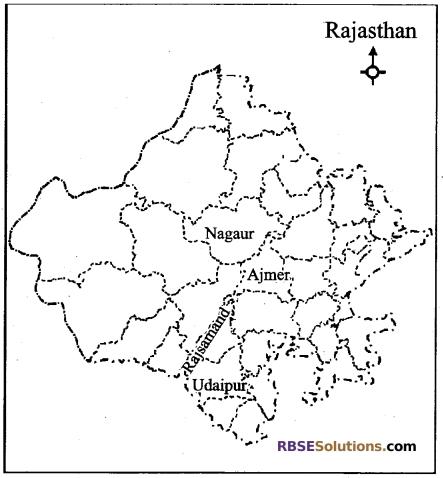 RBSE Class 12 Geography Board Paper 2018 English Medium 4