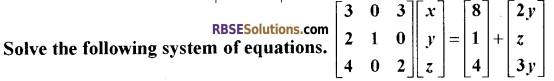 RBSE Class 12 Maths Model Paper 3 English Medium 10