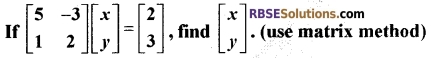 RBSE Class 12 Maths Model Paper 3 English Medium 2