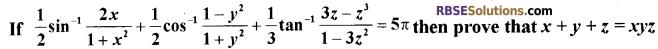 RBSE Class 12 Maths Model Paper 3 English Medium 8