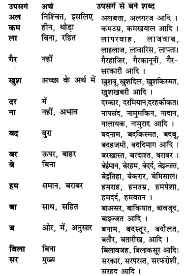 RBSE Class 7 Hindi व्याकरण उपसर्ग 4