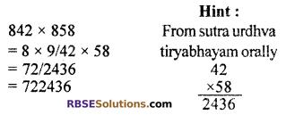 RBSE Solutions for Class 10 Maths Chapter 1 Vedic MathematicsAdditional Questions Q4
