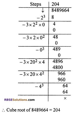 RBSE Solutions for Class 10 Maths Chapter 1 Vedic MathematicsEx 1.3 Q15
