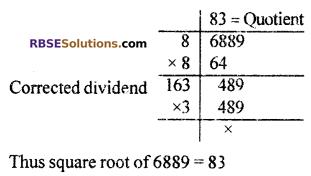 RBSE Solutions for Class 10 Maths Chapter 1 Vedic MathematicsEx 1.3 Q3