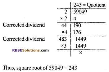 RBSE Solutions for Class 10 Maths Chapter 1 Vedic MathematicsEx 1.3 Q4