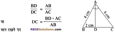 RBSE Solutions for Class 10 Maths Chapter 11 समरूपता Additional Questions 13
