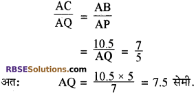 RBSE Solutions for Class 10 Maths Chapter 11 समरूपता Additional Questions 19