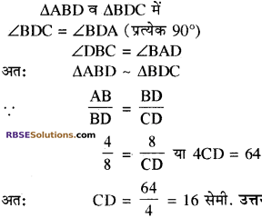 RBSE Solutions for Class 10 Maths Chapter 11 समरूपता Additional Questions 24