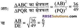 RBSE Solutions for Class 10 Maths Chapter 11 समरूपता Additional Questions 39