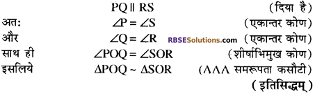 RBSE Solutions for Class 10 Maths Chapter 11 समरूपता Ex 11.3 13
