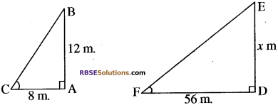 RBSE Solutions for Class 10 Maths Chapter 11 समरूपता Ex 11.3 16
