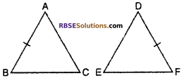 RBSE Solutions for Class 10 Maths Chapter 11 Similarity Additional Questions 1