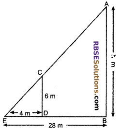 RBSE Solutions for Class 10 Maths Chapter 11 Similarity Additional Questions 14