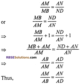 RBSE Solutions for Class 10 Maths Chapter 11 Similarity Additional Questions 20
