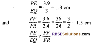 RBSE Solutions for Class 10 Maths Chapter 11 Similarity Additional Questions 22