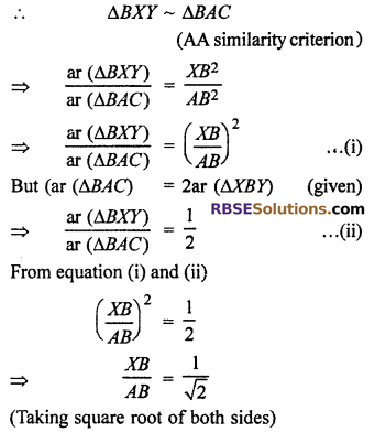 RBSE Solutions for Class 10 Maths Chapter 11 Similarity Additional Questions 31