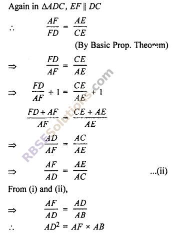 RBSE Solutions for Class 10 Maths Chapter 11 Similarity Ex 11.2 10